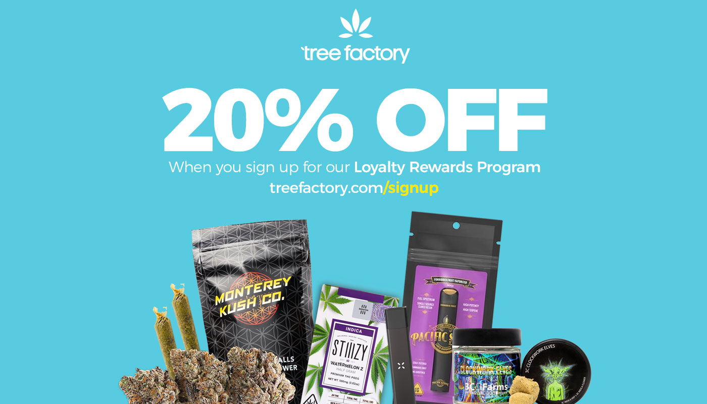 Customers Receive 20% Off When They Sign Up For Tree Factory's Loyalty Rewards Program